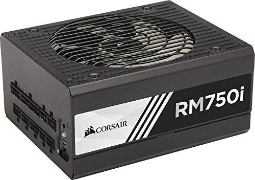 Corsair RM750i PC-Netzteil (Voll-Modulares Kabelmanagement, 80 Plus Gold, 750 Watt, EU) (Gold Zertifiziertes Netzteil)