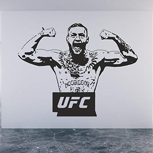 mmzki Conor Aufkleber UFC Champion Cage kämpfer wasserdichte Wandaufkleber Kinderzimmer Dekoration Wandbild Poster Kinderzimmer Dekor 42X54 cm