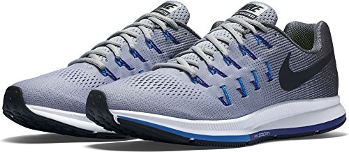 Nike Air Zoom Pegasus 33, Gymnastique homme Gris (Wolf Grey / Black-Dark Grey)