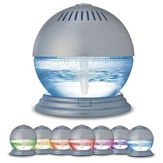 Luftreiniger und Ionisator von Sentik® mit farbwechselndem LED-Licht und 3Düften