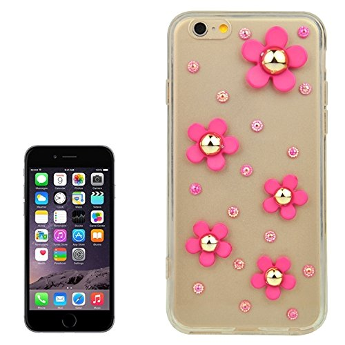 Phone case & Hülle Für IPhone 6 Plus / 6S Plus, Modische Ultradünn Gänseblümchen Muster Acryl TPU Schutzhülle ( Color : Yellow ) Magenta