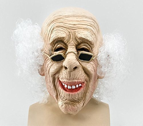 Bristol Novelty BM235 Alter Mann Maske, Mehrfarbig, Einheitsgröße