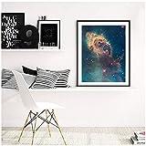 Universe Art Galaxy, Poster con Stampa di Nebula, telescopio di Hubble, Dipinto su Tela, Immagine Artistica da Parete, 30 x 40 cm, Senza Cornice