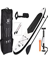 XQ Max Professionelle aufblasbares Stand Up Paddle Board Surfboard Oars Rucksack Air Pumpe Paket KIT Set