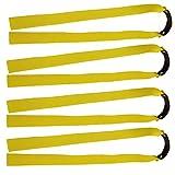 mangobuy 10PCS flach Elastic Rubber Band Outdoor Slingshot Ersatz Band für Holz Slingshot Katapult konisch Jagd Bands, gelb