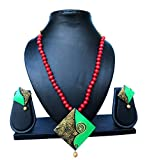 #7: Pentacrafts Terracotta Art Designed Women Girl Necklace Set, Color Multi