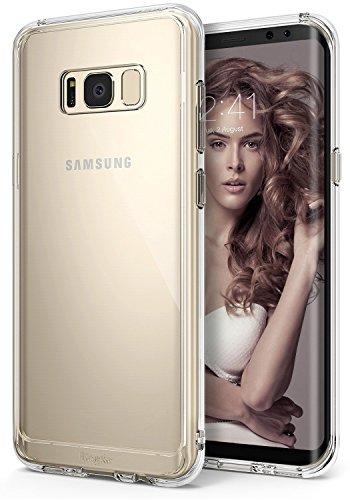 Funda Samsung Galaxy S8 Plus 2017, Ringke [FUSION] Protector de TPU Con Parte Posterior Transparente de PC Carcasa Protectora Biselada - Transparente Clear
