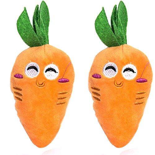 New Lovely Pet Toy Zanahoria de peluche relleno algodón sonido Squeaker perro juguetes mejor