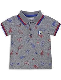 The Essential One - Bébé Enfant Garçon T-Shirt Polo - Gris/Rouge/Bleu - EOT225