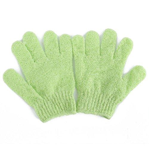 OUNONA 2 Stück Peelinghandschuh für Körperpeeling (grün)