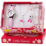 Ravel Children's Jewellery Set: Little Gems Ballerina Watch, Ballerina Bracelet, Ballerina Necklace in Presentation Box