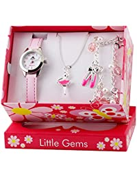 Ravel 'Little Gems' Ballerina Watch and Silver Plated Jewellery Set.