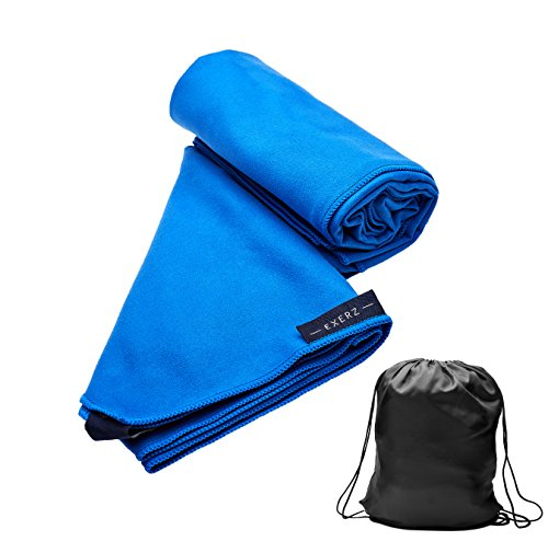 Exerz Microfibre Travel Towel Sports Towel (L 130 x 75 cm) with With 1238cba9c