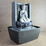 Zen'Light Fuente de Interior, Plateado, 20 x 15 x 26 cm