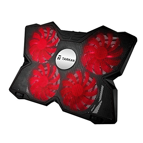 Tarkan Heavy Duty [4 Fans] LED Gaming Cooling Pad [Suitable for upto 17 inch Laptops] [RED]