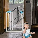 Voltoo Türschutzgitter Treppengitter ohne Bohren aus Metall zum Einklemmen für Baby Kinder,74-85cm