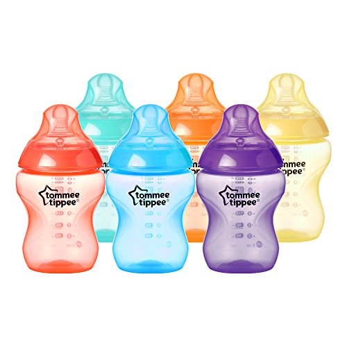 Tommee Tippee Closer To Nature Biberon, 6 Pezzi, Multicolore