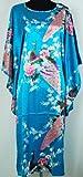 X Border Chemise De Nuit Kimono Pyjama Peignoir Robe Bleue Taille Unique