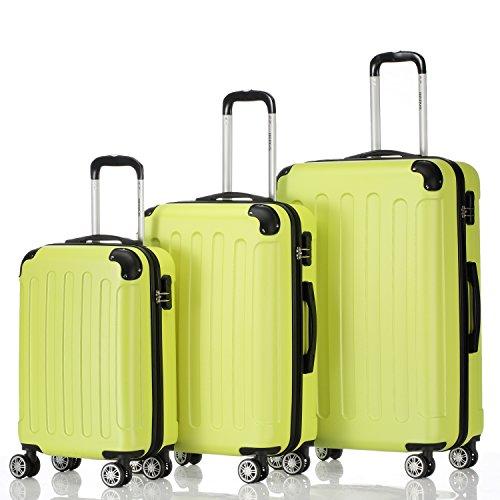 Zwilling ruedas 2045 conjunto de equipaje de viaje 3 piezas Juego de equipaje maleta trolley en 10 colores multicolor verde Definir