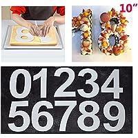 Grand Nombre Boîtes à gâteaux Moule à 0–9numéros gâteau casseroles pour crème par couches gâteau Mariage Anniversaire 25,4cm (25cm)
