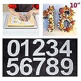 Juego de moldes para Tartas con número Grande de 0 a 9 para Hornear y repostería, para glaseado en Capas y Crema de Frutas, decoración de Bodas, cumpleaños, Fiestas, 25 cm