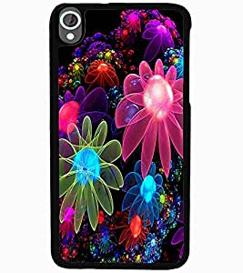 ColourCraft Digital Flowers Design Back Case Cover for HTC DESIRE 820