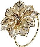 Syndecho Set di 6 Anello Portatovaglioli,Elegante Floral Wedding Anello di Tovagliolo per Festa di Nozze Tavola Decorazione (Dorato)