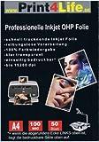 50 Blatt DIN A4 Overheadfolie glasklar Präsentationsfolie Overhead OHP Folien Inkjet Tintenstrahldrucker
