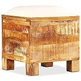 vidaXL Sitzbank mit Stauraum Recyclingholz Sitztruhe Sitzhocker Sitzwürfel