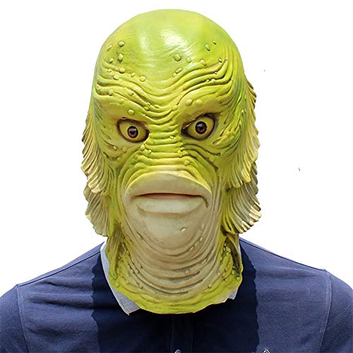 Story of life Maske Halloween Latex Monster Fisch Deluxe Neuheit Gruselig Dekorationen Für Karneval Halloween Mottopartys (Toy Story Halloween-dekoration)