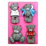 Tatty Bären Teddy Silikon Form für Kuchen Dekorieren, Kuchen, kleiner Kuchen Toppers, Zuckerglasur...
