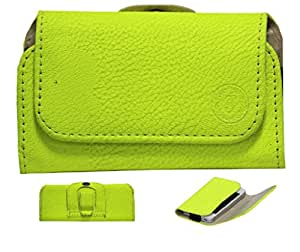 Jo Jo A4 G8 Belt Case Mobile Leather Carry Pouch Holder Cover Clip Micromax X211 Parrot Green