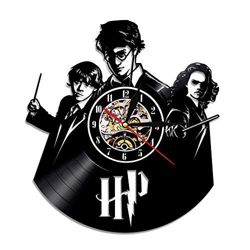 YALESU Harry Potter Vinyl Record Wall Clock, Cool Classic Movie Character Art Deco,30cm (12 Zoll)
