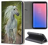 Samsung Galaxy S3 / S3 Neo Hülle Premium Smart Einseitig Flipcover Hülle Samsung S3 Neo Flip Case Handyhülle Samsung S3 Motiv (1545 Einhorn Fantasy Cartoon Märchen)