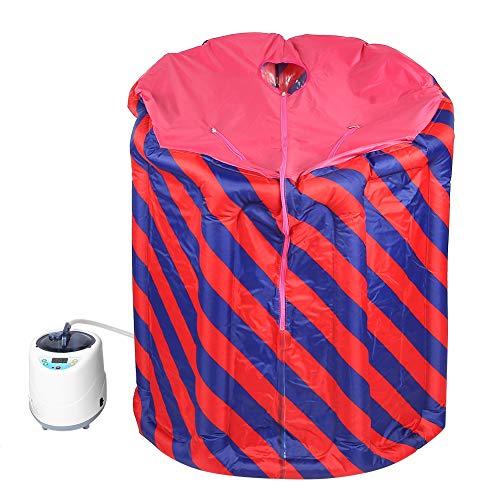 Jacksking Persönliche Dampfsauna, persönliches therapeutisches Badekurort 2L Sauna-Dampfgarer-Maschine mit faltendem aufblasbarem Hauptsauna-Kasten-Zuhause-Badekurort(EU-Stecker) -
