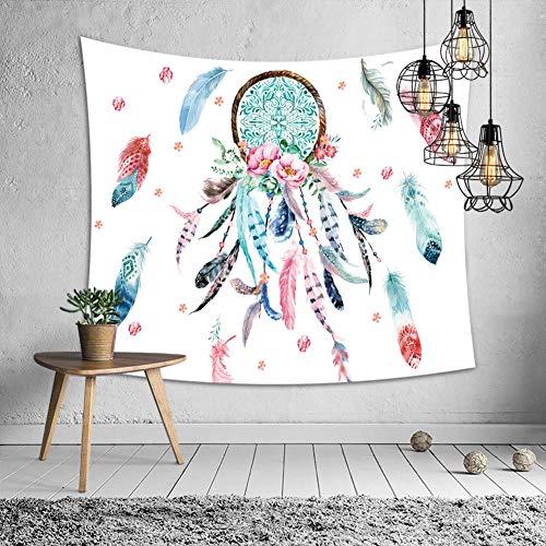 Zuonuoo Tapiz de Mandala Indio Atrapasueños Tapices para Colgar en la Pared Hippie Bohemio Decorativo Alfombra de Pared Esteras de Yoga Mantel 1_B; 51.2in * 59.1in / 130 * _150cm