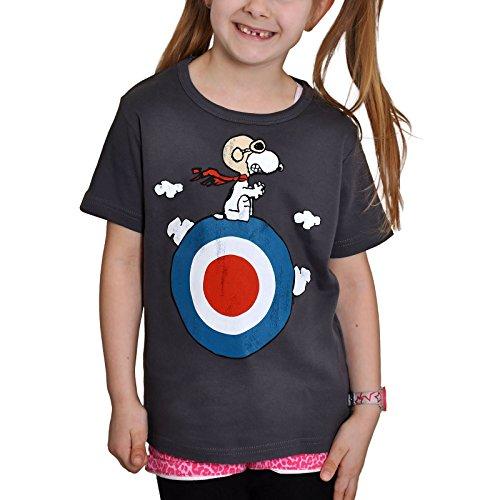 Peanuts - camiseta infantil de Snoopy motorizado - estampado retro de Snoopy, con la licencia oficial, tejido de gran calidad, azul - 158/164