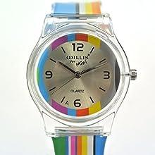Zeiger Time Teacher-Reloj para niña con multicolor banda de silicona, analógico, cuarzo, Navidad/regalo de cumpleaños