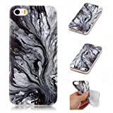 BONROY-iPhone-SE-5S-5-Coque-Housse-EtuiFashion-Belle-Srie-Marbling-Ultra-Mince-Thin-Soft-Silicone-Etui-de-Protection-pour-Souple-Gel-TPU-Bumper-Poussiere-Resistance-Anti-Scratch-Case-Cover-Couverture-
