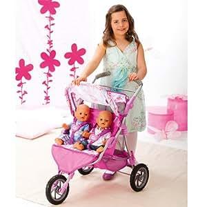 baby born puppenwagen twin spielzeug. Black Bedroom Furniture Sets. Home Design Ideas