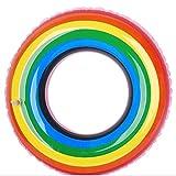 YOUYONGSR Rainbow Schwimmen Ring aufblasbare Pool Schwimmen Schwimmen Schwimmen für Erwachsene Rohr floss Schwimmen Ring Sommer Wasser Spielzeug 120 mit Griff