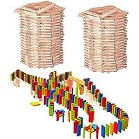 Preisvergleich für alles-meine.de GmbH XXL Set _ 400 Stück Bausteine - Bunt - aus Holz - Ideal für Domino Rally - Bun..