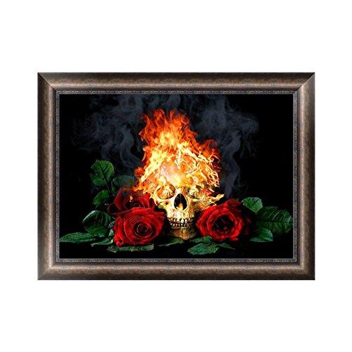 Rawuin Rose Tête de mort 5d Diamant Broderie Peinture Croix DIY Art Craft Home Decor (# 702)