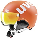 Uvex HLMT 500 Visor Skihelm, orange mat, 55-59 cm