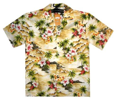 PLA-Original-Camisa-Hawaiana-Wave-beige-S