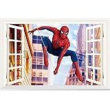 JUNMAONO The Avengers League Spiderman Wandaufkleber/Wandgemälde/Wand Poster/Wandbild Aufkleber/Wandbilder/Wandtattoo/Tapete/Tapezieren/Tapeten/Wand Zeitung/Wandmalerei/Instant Aufkleber