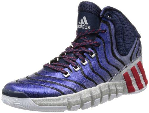 adidas Adipure Crazyquick 2.0, Chaussures de basket-ball homme Bleu (Collegiate Navy/Light Scarlet/Running White)