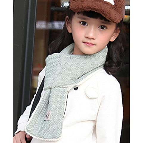 Sciarpa in cotone caldo ispessimento autunno inverno per bambini , green