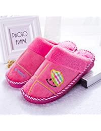 Winter Slippers Men's Cotton Slippers Large Size Thicken Warm Couples Slippers Winter Home Indoor Men's and Women's Cotton Slippers