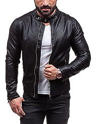 BOLF - Veste - Faux cuir - Fermeture éclair – Y-TWO D008 – Homme